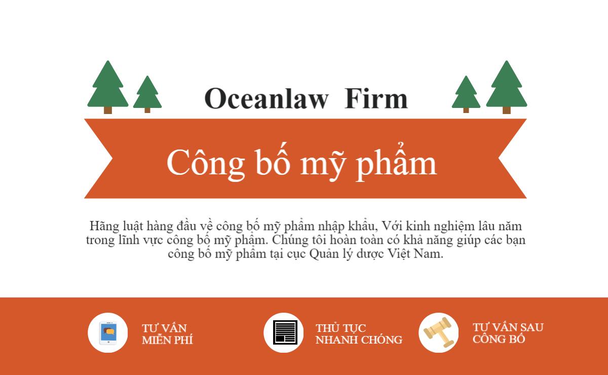 Infographic – Công bố mỹ phẩm tại hãng luật Oceanlaw